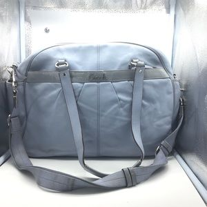 Coach Addison blue leather tote diaper baby bag
